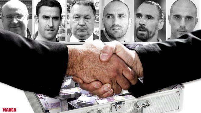 Futbolistas detenidos en la operación Oikos: Raúl Bravo, Íñigo...