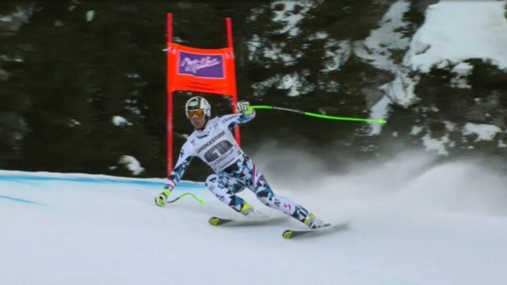 (ARCHIVO) Hannes Reichelt, ganador del segundo descenso en Garmisch...