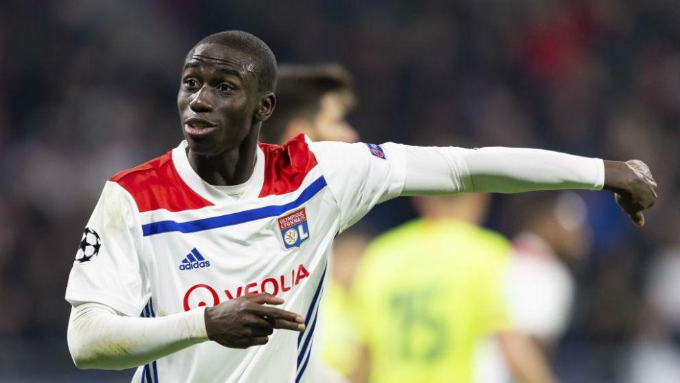 Mendy, en un partido con el Olympique de Lyon de esta temporada.