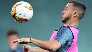 Hazard (28), en el último entrenamiento en Bakú.