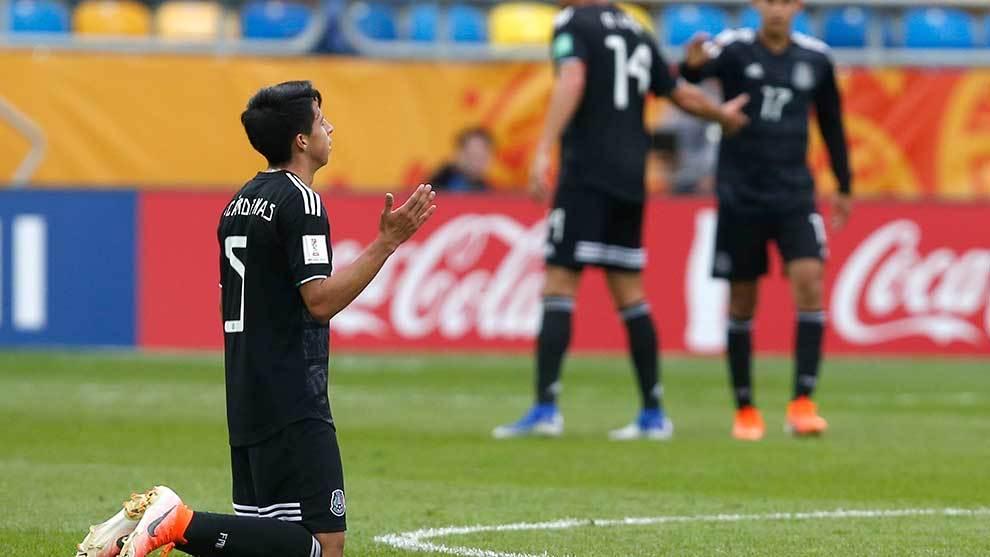 Cárdenas tras el partido ante Japón.