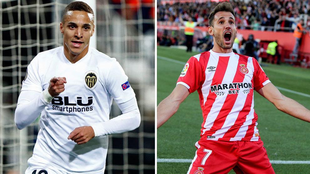 Rodrigo y Stuani suben enteros como refuerzos para la delantera del Barcelona