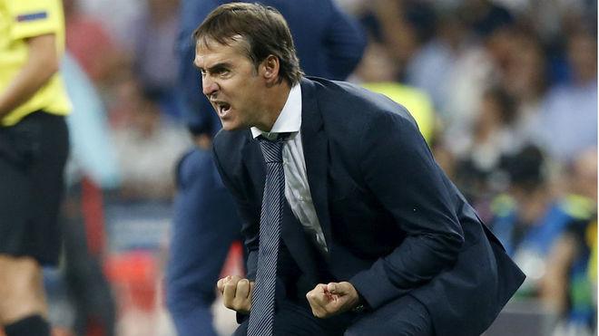 Julen Lopetegui, como entrenador del Real Madrid.