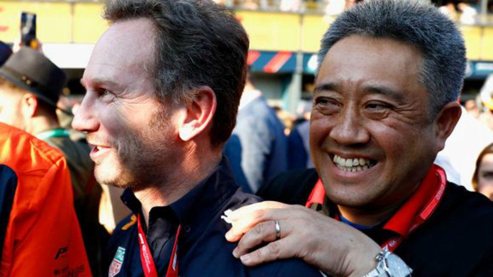 Masashi Yamamoto y Christian Horner, en una imagen de archivo.