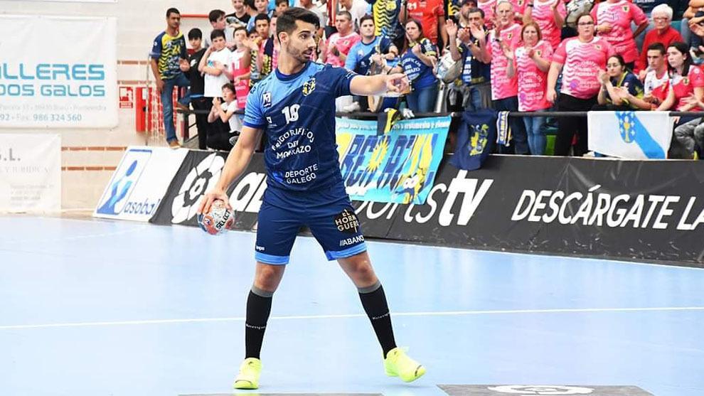 David Chapela, durante un partido con el Cangas /
