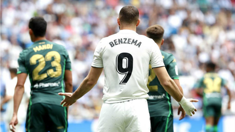 Karim Benzema during the last game of the season against Real Betis.