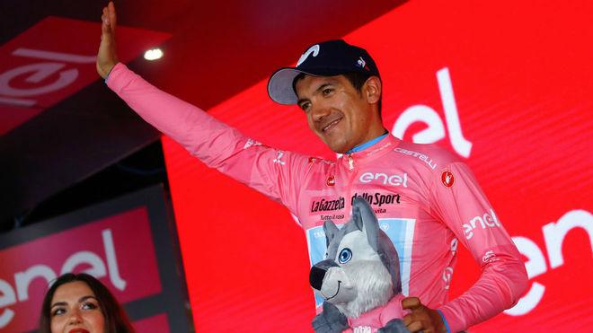 Richard Caraoaz, en el podio