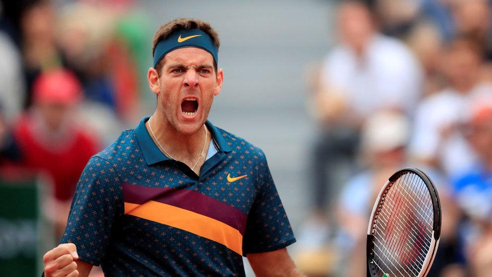 Del Potro accede a la siguiente ronda de Roland Garros