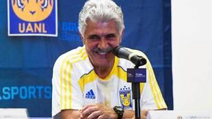 Ricardo Ferretti en el día de medios previo a la final del Clausura...