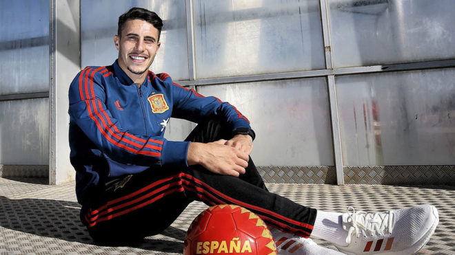 Mario Hermoso with the Spanish national team