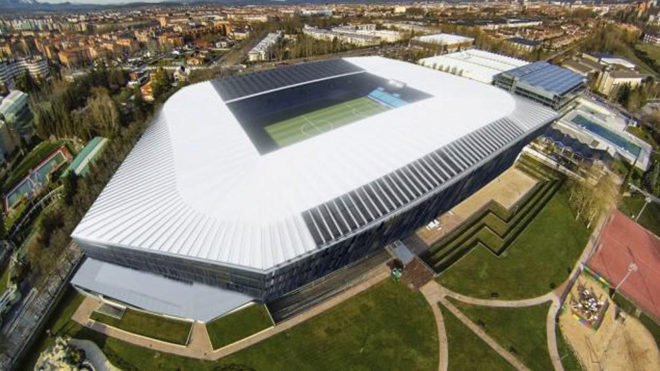 Maqueta del estadio de Medizorroza.