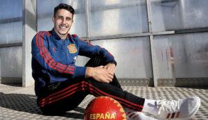 Mario Hermoso, con la selección española.
