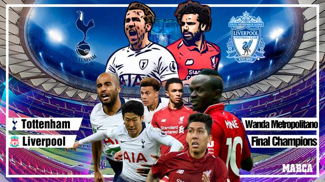 Tottenham - Liverpool: horario y donde ver en TV la final de Madrid