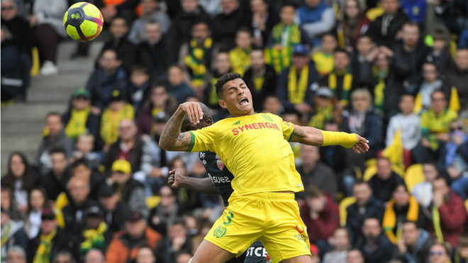 Diego Carlos in action for Nantes.