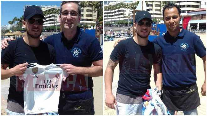 Hazard ya posa con la camiseta del Madrid
