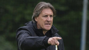 Sergio Egea, en un entrenamiento del Oviedo.