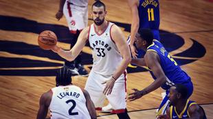 Marc Gasol fue decisivo en la victoria de Toronto Raptors en el primer...