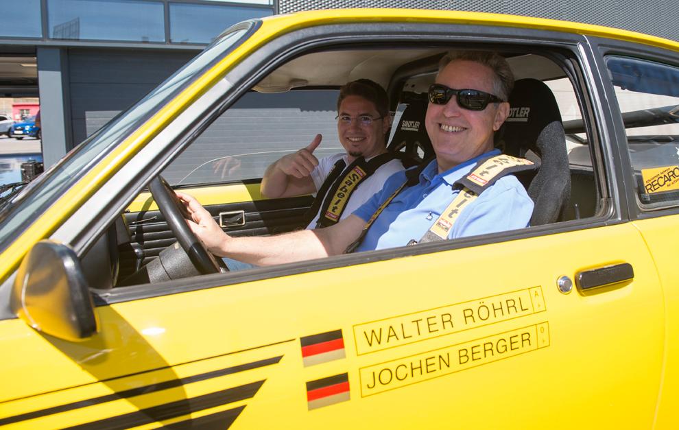 El redactor de MARCA Motor, al volante del Kaddet GT/E de Rohrl.
