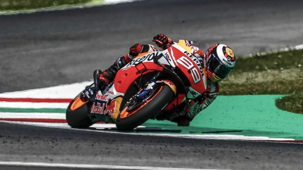 Lorenzo, durante el Gran Premio de Italia.