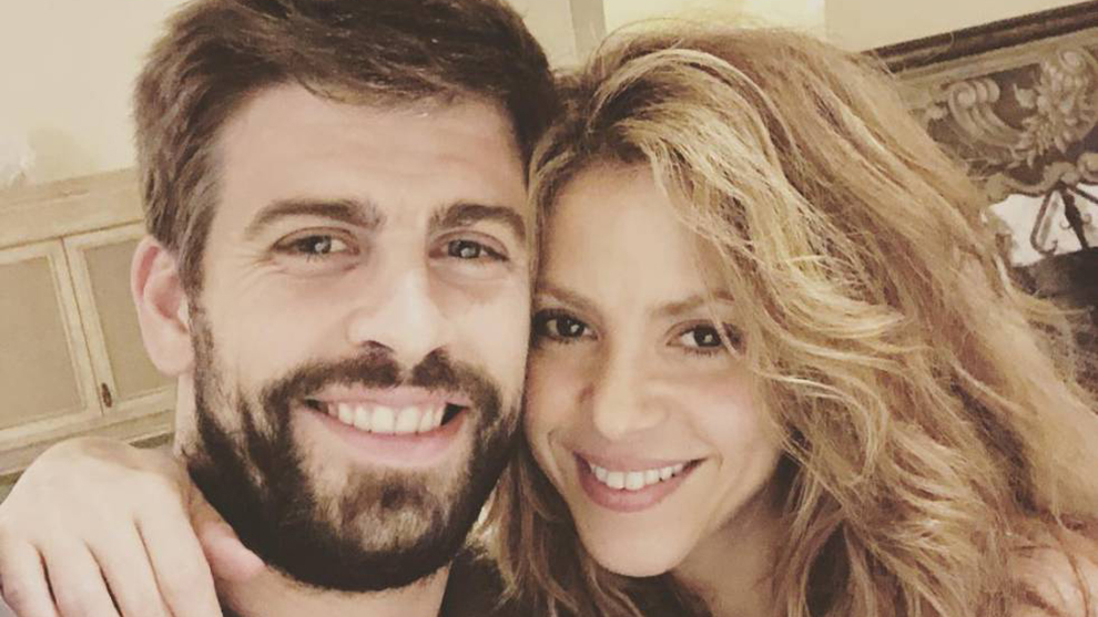 Pique with Shakira on holiday.