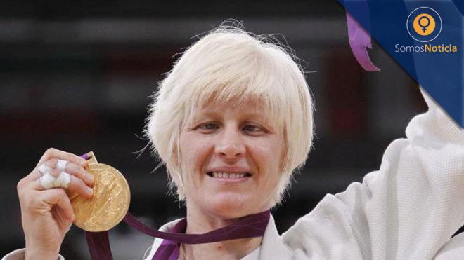 Carmen Herrera, con su oro en -70 kg en Londres 2012.
