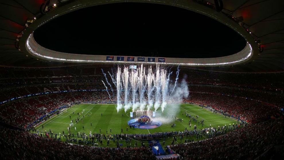 Imagen del Wanda Metropolitano durante la final.