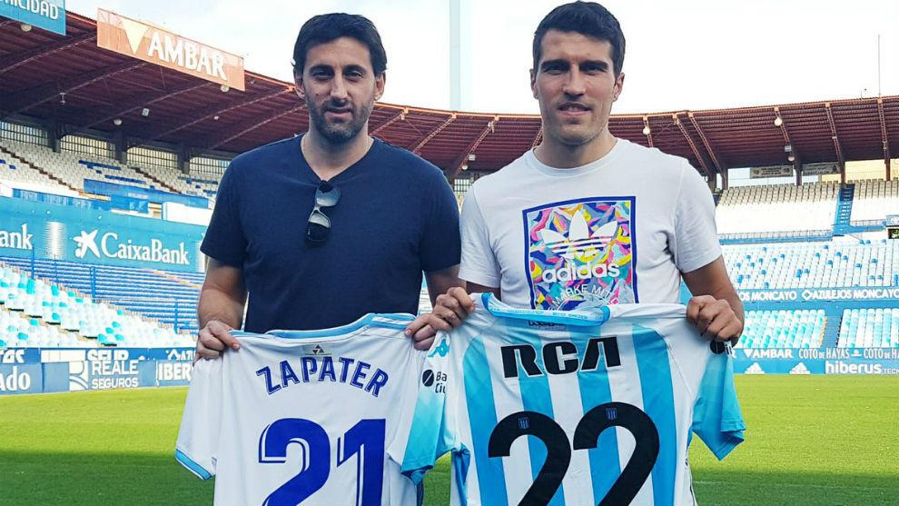 Diego Milito y Alberto Zapater se intercambiaron las camisetas.