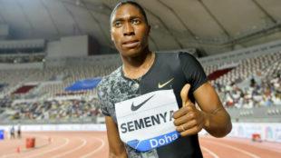 Caster Semenya tras su última carrera en Doha el pasado 3 de mayo.