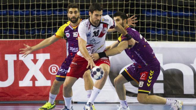 Molina, en un partido de su etapa en el Logroño /