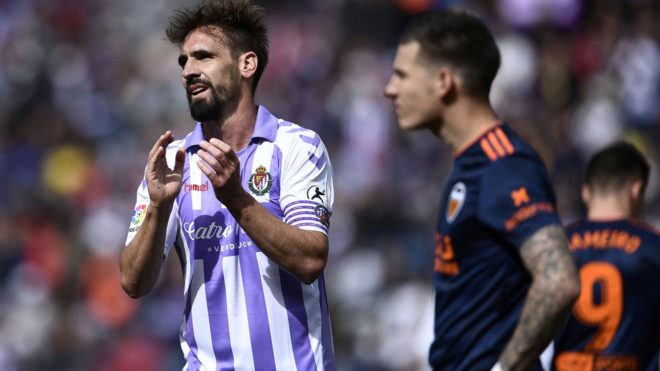 Borja Fernández during his last game as a professional against...