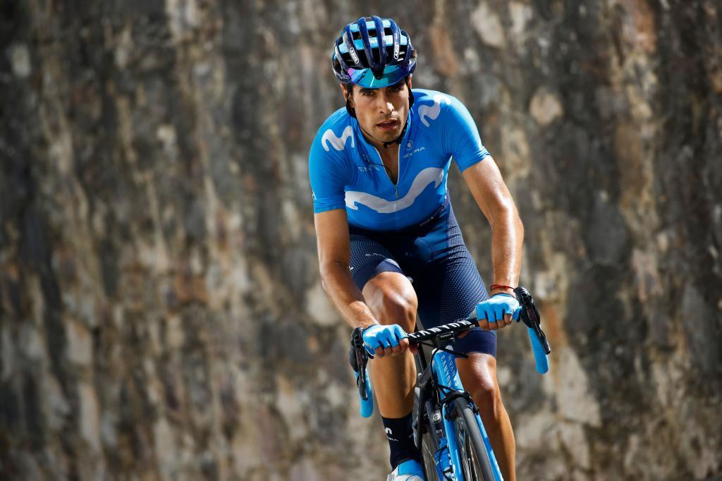 Team Movistar rider Spains Mikel <HIT>Landa</HIT> rides in the last Monte Avena ascent during stage twenty of the 102nd Giro dItalia - Tour of Italy - cycle race, 194kms from Feltre to Croce DAune-Monte Avena on June 1, 2019. (Photo by Luk BENIES / AFP)