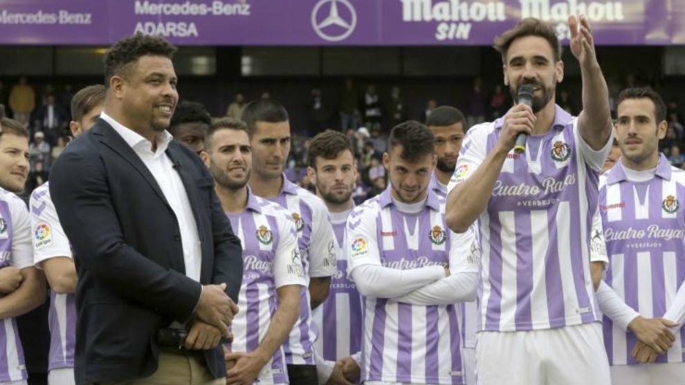 Ronaldo y Borja el día de su despedida.