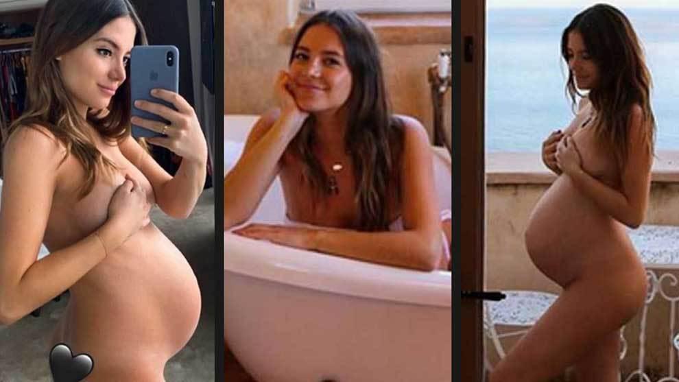 Premier League Desnudo Integral De Sarah Kohan Embarazada De Nueve