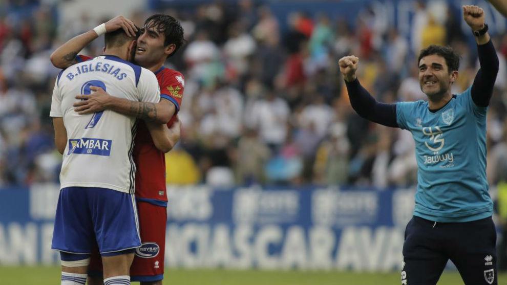 Borja Iglesias es consolado por Escasi tras ser eliminado de los...