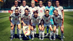La Selección Española posa antes del partido amistoso ante Japón.