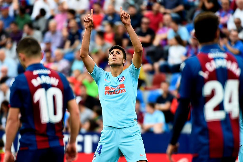 Rodri after scoring against Levante on the final day of the season in...