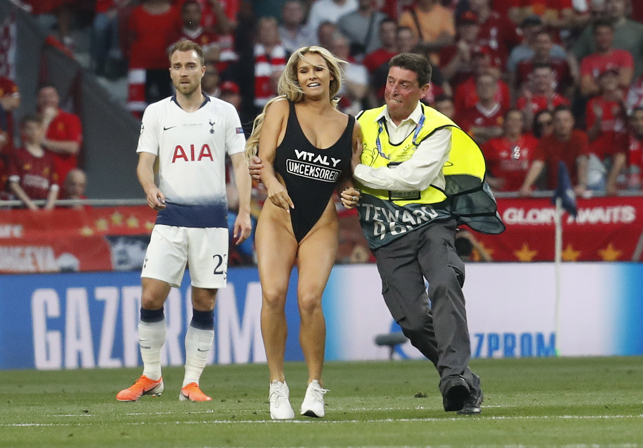 Kinsey Wolanski during the Champions League final