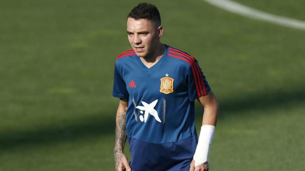 Iago Aspas, con la selección española.