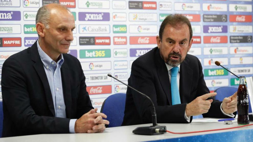 Ángel Torres junto a Ángel Martín.