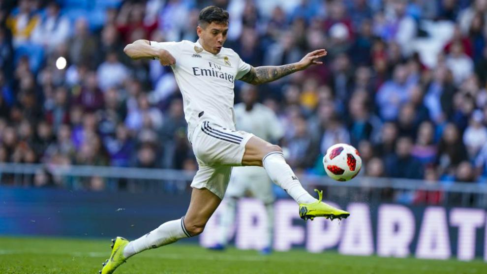 Javi Sánchez, en un partido con el Real Madrid.
