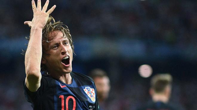 Luka Modric in action for Croatia.