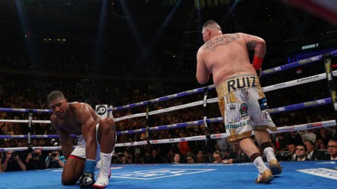 Andy Ruiz, en el combate ante Anthony Joshua
