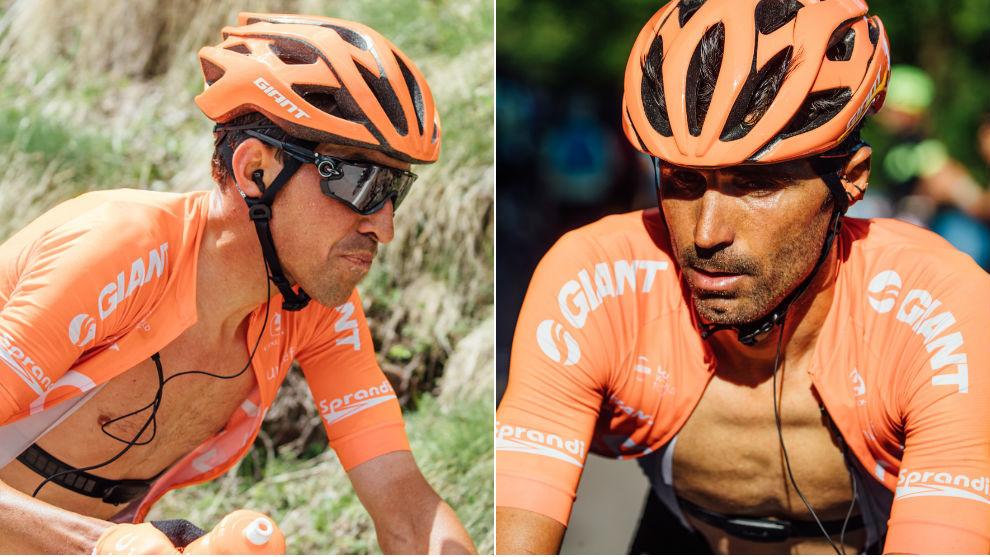 Víctor de la Parte y Fran Ventoso, durante el Giro de Italia 2019.