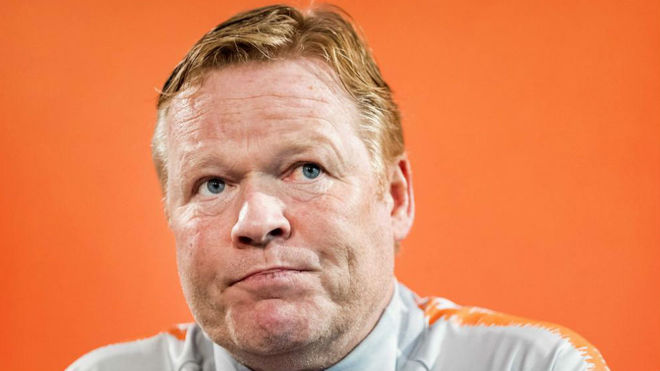 Ronald Koeman in a press conference.