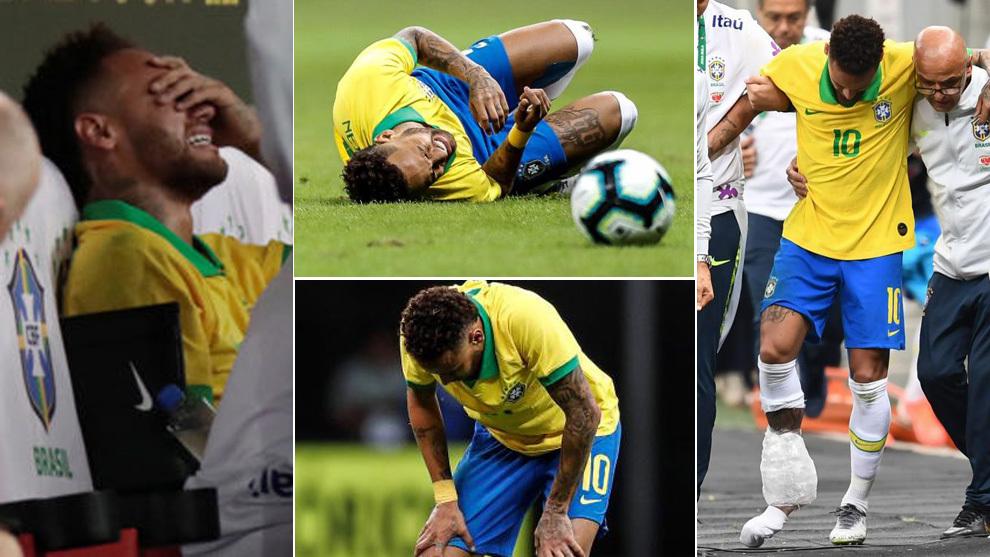 Neymar vivió un día negro ante Catar: lesión y adiós a la Copa...