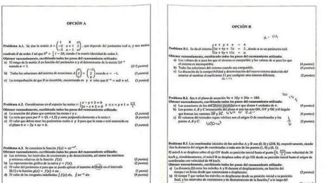 Calendario Selectividad 2020 Andalucia.Asi Fue El Polemico Examen De Matematicas En Selectividad De La
