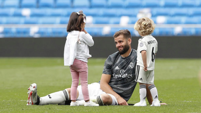 Nacho Fernandez with his children.