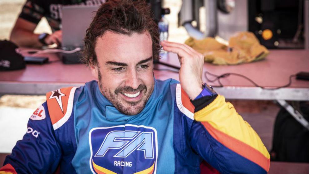 Fernando Alonso, en Sudáfrica con Toyota.
