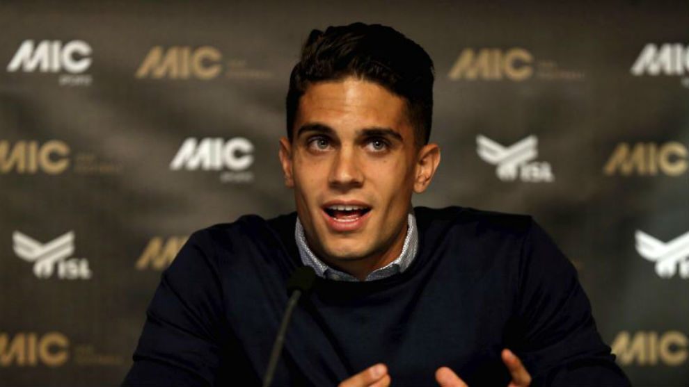Marc Bartra during an event for MIC.