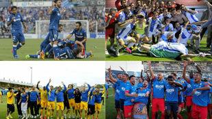 Getafe, Leganés, Alcorcón y Fuenlabrada celebran sus últimos...